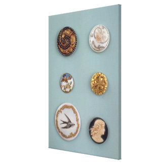 Collection of buttons canvas print