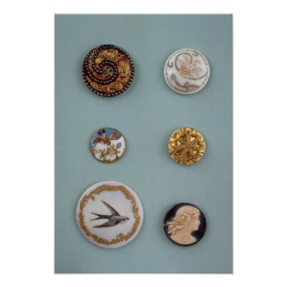 Collection of buttons poster