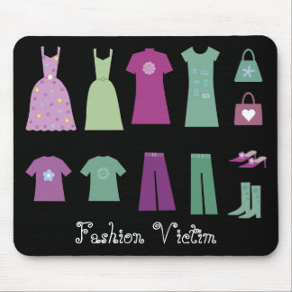 Collection of Clothes Fashion Victim Mousepad