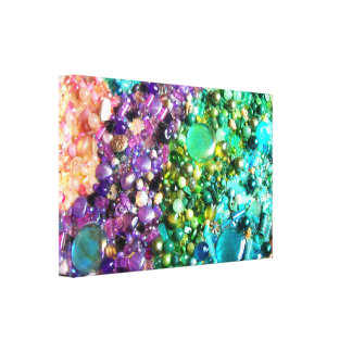 Collection of Colorful Beads Canvas Print