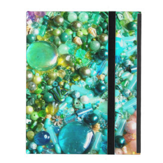 Collection of Colorful Beads iPad Folio Cases
