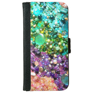 Collection of Colorful Beads iPhone 6 Wallet Case