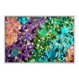 Collection of Colorful Beads Poster