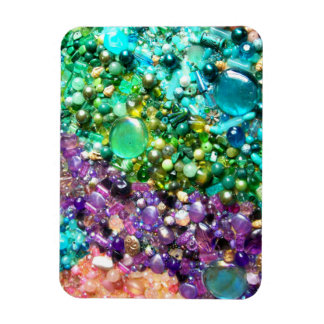 Collection of Colorful Beads Rectangular Photo Magnet