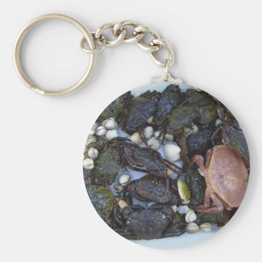 Collection Of Crabs Basic Round Button Keychain