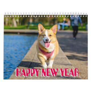 Collection of cutest puppies photo Happy New Year Calendar