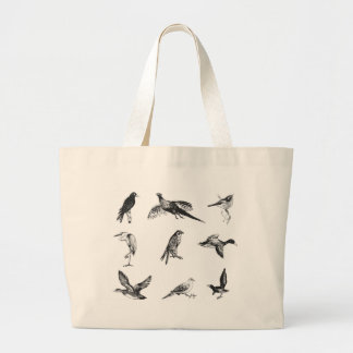 Collection of flying water fowl and birds large tote bag