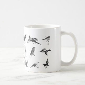 Collection of flying water fowl and birds classic white coffee mug
