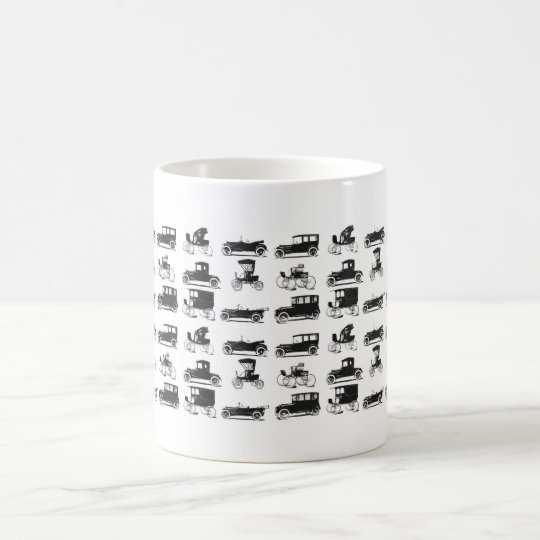 Collection of old and classic cars coffee mug