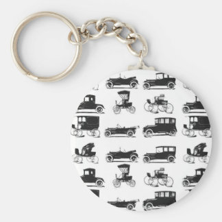 Collection of old and classic cars basic round button keychain