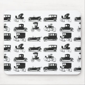 Collection of old and classic cars mouse pad