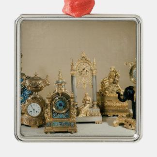 Collection of Pendules de Paris Metal Ornament
