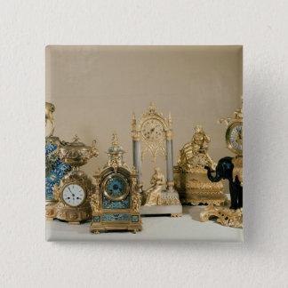 Collection of Pendules de Paris Pinback Button
