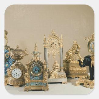 Collection of Pendules de Paris Square Sticker