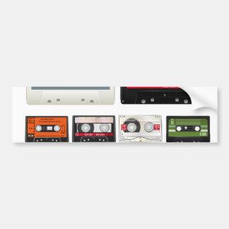 Collection of Retro Audio Cassette Tapes Bumper Sticker