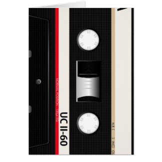 Collection of Retro Audio Cassette Tapes Card