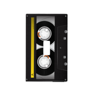 Collection of Retro Audio Cassette Tapes Light Switch Cover