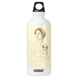 Collection of Sketches of Beauties, Graphite art Aluminum Water Bottle