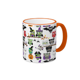 Collection Of Spooky Halloween Owls Coffee Mug