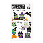 Collection Of Spooky Halloween Owls Postage