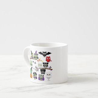 Collection Of Spooky Halloween Owls 6 Oz Ceramic Espresso Cup