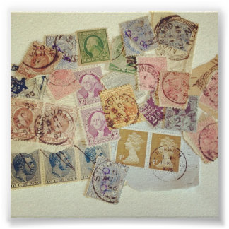 Collection of Stamps Posters