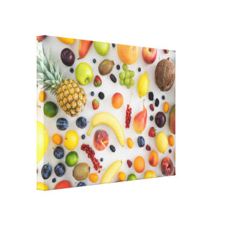 Collection of summer fruits canvas print