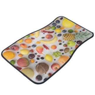 Collection of summer fruits car floor mat
