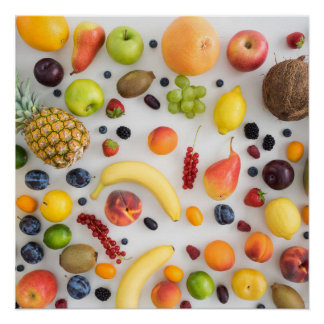 Collection of summer fruits perfect poster