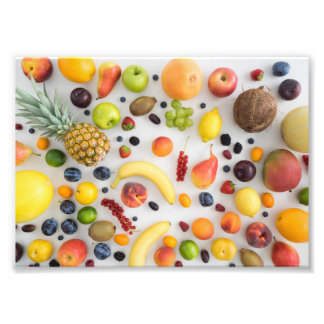 Collection of summer fruits photo print