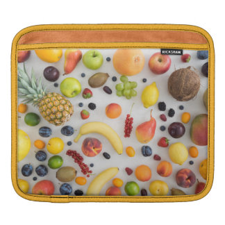 Collection of summer fruits sleeve for iPads