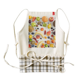 Collection of summer fruits zazzle HEART apron
