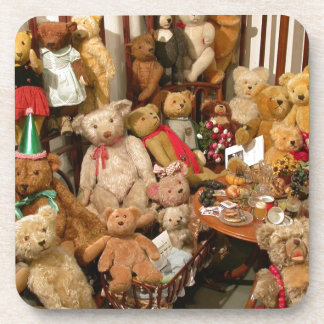 Collection Of Vintage Teddy Bears Coaster