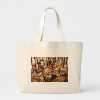 Collection Of Vintage Teddy Bears Large Tote Bag