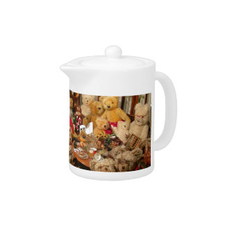 Collection Of Vintage Teddy Bears Teapot