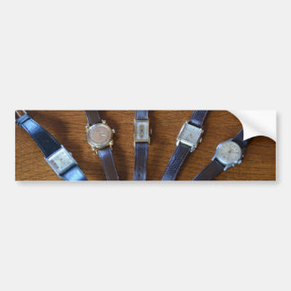 Collection Of Vintage Watches Car Bumper Sticker