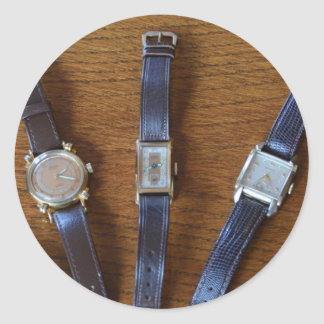 Collection Of Vintage Watches Classic Round Sticker