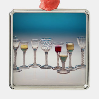 Collection of wine glasses, c.1755-60 metal ornament