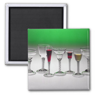 Collection of wine glasses with twist stems magnet