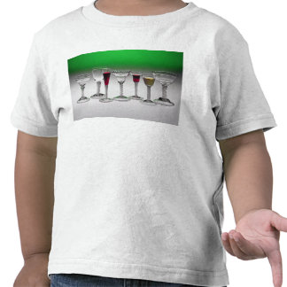 Collection of wine glasses with twist stems tee shirt