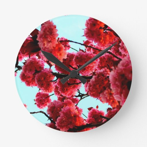"""collection """"Spring inspiration """" Round Clock"""