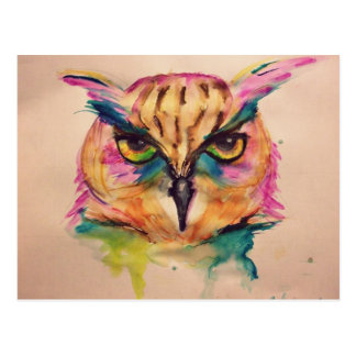 Collection watercolor owl exclusive and unique postcard
