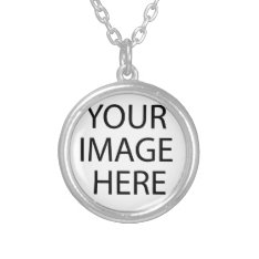 CollectionsBay Photo Create Silver Plated Necklace at Zazzle