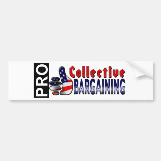 Collective Bargaining bumper stickers