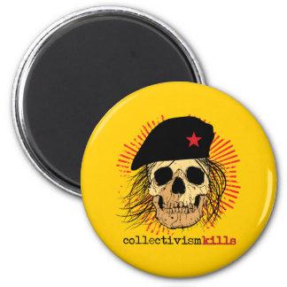 Collectivism Kills 2 Inch Round Magnet