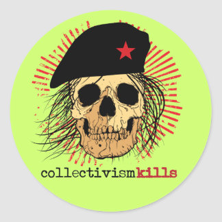 Collectivism Kills Classic Round Sticker