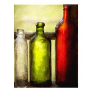 Collector - Bottles - Still life of three bottles Flyer