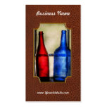 Collector - Bottles - Two empty wine bottles Business Card Template