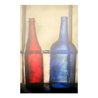 Collector - Bottles - Two empty wine bottles Personalized Stationery