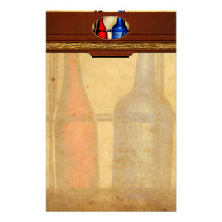 Collector - Bottles - Two empty wine bottles Customized Stationery